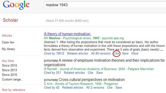 google scholar search results - Critical Response Essay Format