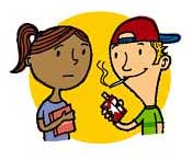 cartoon girl smoking
