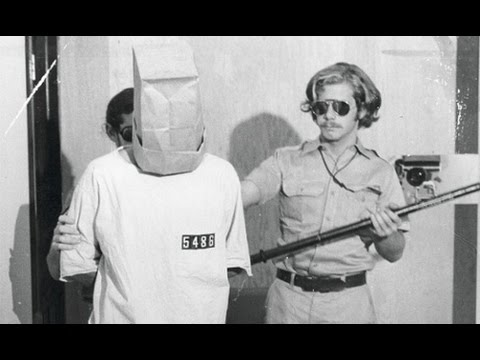 Picture of Prisoner and Guard from the Standford Prison Experiment